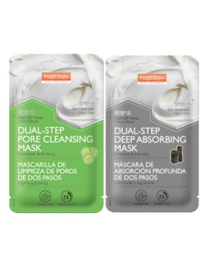 PUREDERM - Dual-Step Pore Cleansing Mask