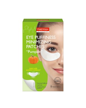 "PUREDERM - Eye Puffiness Minimizing Patches""PUMPKIN"" - 6 treatments"