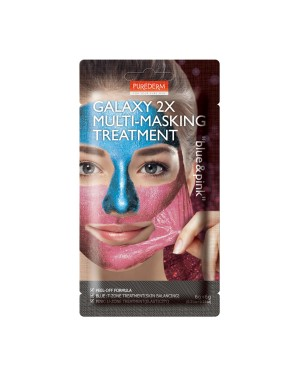 PUREDERM - Galaxy 2X Multi-Masking Treatment - 6g+6g - Pink & Blue