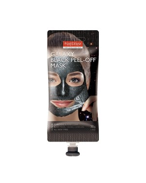 PUREDERM - Galaxy Peel-off Mask Black - Spout - 30g
