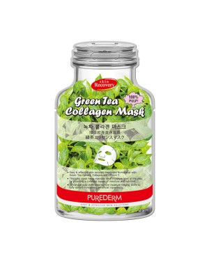 PUREDERM - Green Tea Collagen Mask-B - 1pc