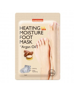 PUREDERM - Heating Moisture Foot Mask - Argan Oil - 1pair