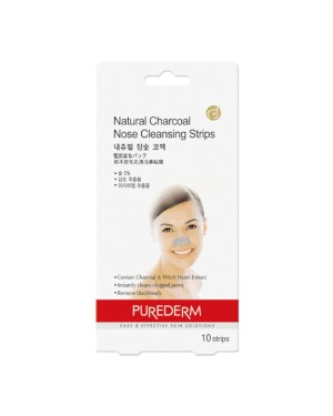PUREDERM - Natural Charcoal Nose Cleansing Strips - 10 strips