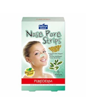 PUREDERM - Nose Pore Strips - Green Tea - 6 strips