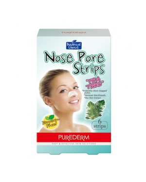 PUREDERM - Bandes de pores de nez - Tea Tree - 6 strips