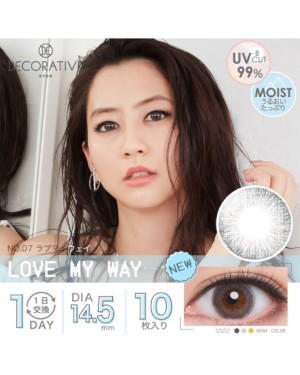 Shobi - Decorative Eyes 1 Day UV - No. 07 Love My Way - 10pcs
