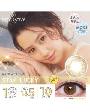 Shobi - Decorative Eyes 1 Day UV - No. 08 Stay Lucky - 10pcs