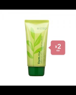 Farm Stay - Green Tea Seed Moisture Sun Cream (2ea) Set - Malachite
