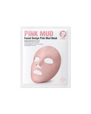 So Natural - Masque de boue rose pour le visage - 1pc / 14g