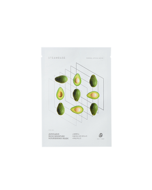STEAMBASE - Masque nourrissant hydratant riche à l'avocat - 1pc