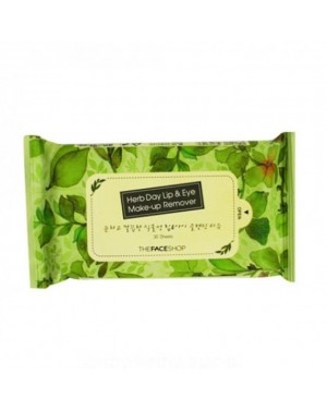 The Face Shop - Herb Day Lip & Eye Make Up Remover Tissue