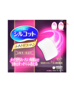 unicharm - Silcot 1/3 Cotton Pads - 32PCS