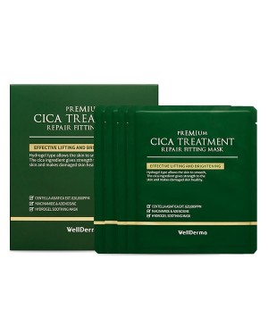 WELLDERMA - Cica Treatment Repair Masque d'ajustement - 4pcs
