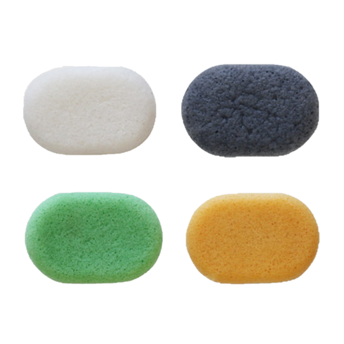 Litfly - Natural Konjac Sponge Set (Oval)