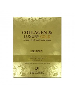 3W Clinic - Collagen & Luxury Gold Energy Hydrogel Facial Mask - 1pack (5pcs)