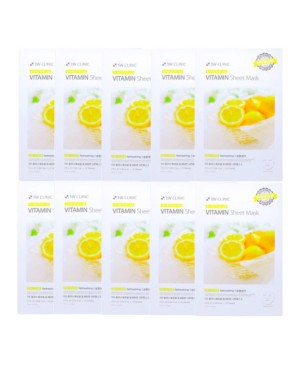 3W Clinic - Vitamin Essential Up Sheet Mask - 10pcs