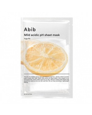 Abib - Mild Acidic pH Sheet Mask - Yuja Fit - 10pcs