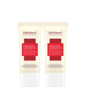 Cell Fusion C - Derma Relief Sunscreen 100 SPF50 + / PA ++++ - 2pcs