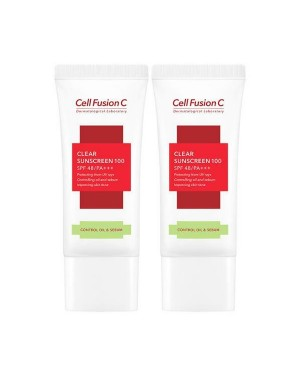 Cell Fusion C - Tre.ac Clear Sunscreen 100 SPF 48 / PA +++ - 2pcs