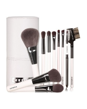 CORINGCO - Ash Brown Professional 10 Brush Set - 10pcs