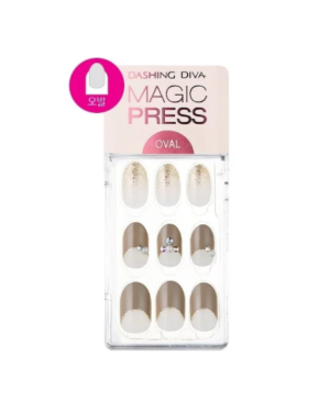 Dashing Diva - Magic Press Super Slim Fit Shining Taupe (Oval) MDR508OV - 30pcs