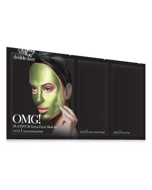 double dare - OMG! Kit Masque Facial Vert Platine - 1ea