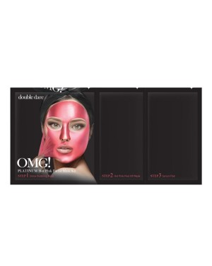 double dare - OMG! Kit masque facial rose vif platine - 1ea