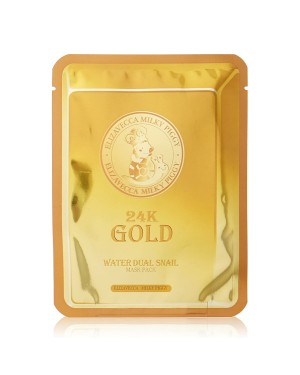 Elizavecca - 24K Gold Water Dual Snail Mask Pack - 1pc