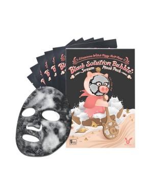 Elizavecca - Paquet de masque de sérum de bulle de solution de pore enfer de Piggy