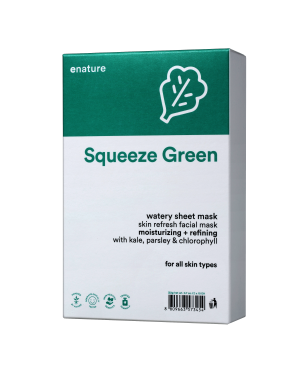 ENATURE - Squeeze Green Watery Masque de feuille - 10pcs
