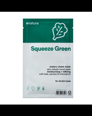 ENATURE - Squeeze Green Watery Masque de feuille - 1pc
