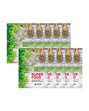 EYENLIP - Masque Super Alimentaire - 10pcs - Green Tea