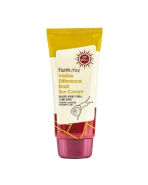 Farm Stay - Visible Difference Snail Sun Cream SPF 50 PA+++ - 70g