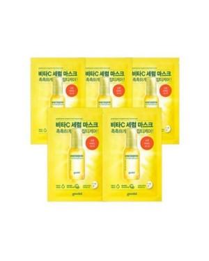 Goodal - Masque en feuille de sérum pour taches foncées Green Tangerine Vita C - 5pcs