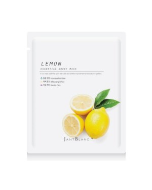 Jant Blanc - Masque en feuille Essential citron