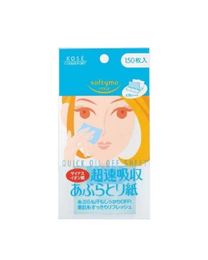 Kose - Softymo - Quick Oil Off Sheet - 150pcs
