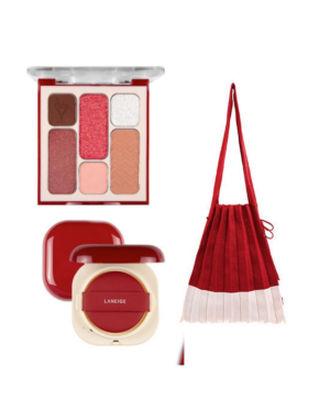 LANEIGE - Neo Cushion X Joseph & Stacey - 01 Stacey Red Cushion + Eyeshadow + Eco Bag - 3items
