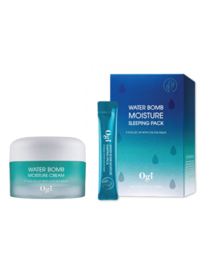 OGI - Water Bomb Moisture Cream + Sleeping Pack - 50ml + 20 pcs
