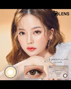 Olens - Spanish Circle 1 Month - Circle Brown - 2pcs