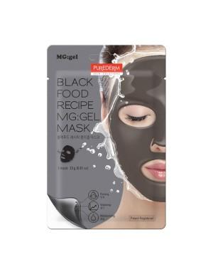 PUREDERM - Black Food Recipe MG: Masque gel - 1pc