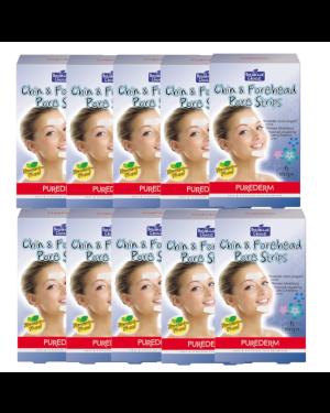PUREDERM - Bandes pour les pores du menton et du front - 60 bandes - 60pcs