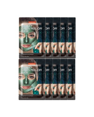 PUREDERM - Galaxy Peel-Off Mask Green - 10pcs - 10pcs