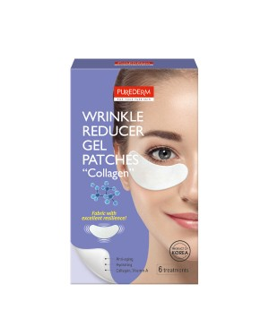 """PUREDERM - Wrinkle Reducer Gel Patches """"COLLAGEN"""" - 6 treatments"""