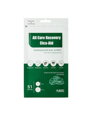 PURITO - All Care Recovery Cica-Aid - 51pcs