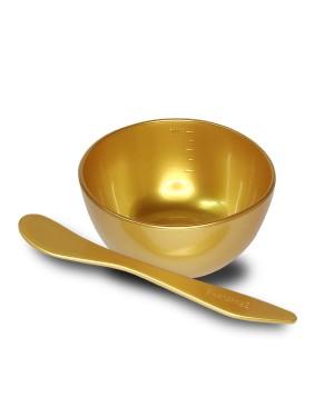 Shangpree - Ensemble de bol et spatule en or avec masque à modeler haut de gamme - 1 set