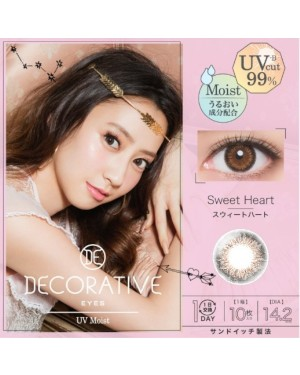 Shobi - Decorative Eyes 1 Day UV - No. 03 Sweet Heart - 10pcs