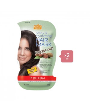 PUREDERM Shiny & Hydrating Hair Mask - Jojoba Oil (2ea) Set - Persian green