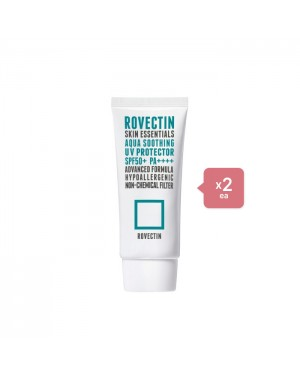 ROVECTIN - Skin Essentials Aqua Soothing UV Protector SPF50+ PA++++ (New) - 50ml (2ea) Set
