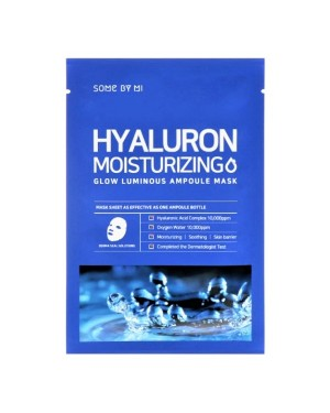 SOME BY MI - Hyaluron Moisturizing Glow Luminous Ampoule Mask (Water) - 1pc