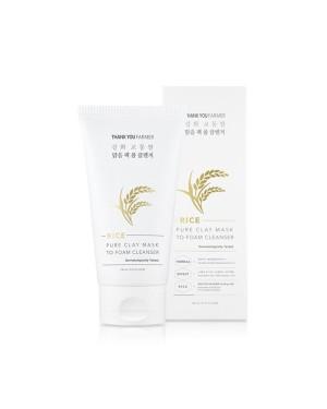 THANK YOU FARMER - Masque de riz à l'argile pure au nettoyant mousse - 150ml